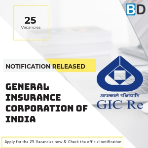 General Insurance Corporation of India - Assistant Manager Scale I Officer Recruitment 2018 released
