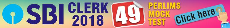 SBI CLERK PRELIMS 49 MOCK TEST SERIES - Bankersdaily