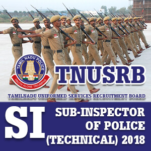 TNUSRB SI (TECHNICAL) 2018 RECRUITMENT EXAM - Bankersdaily