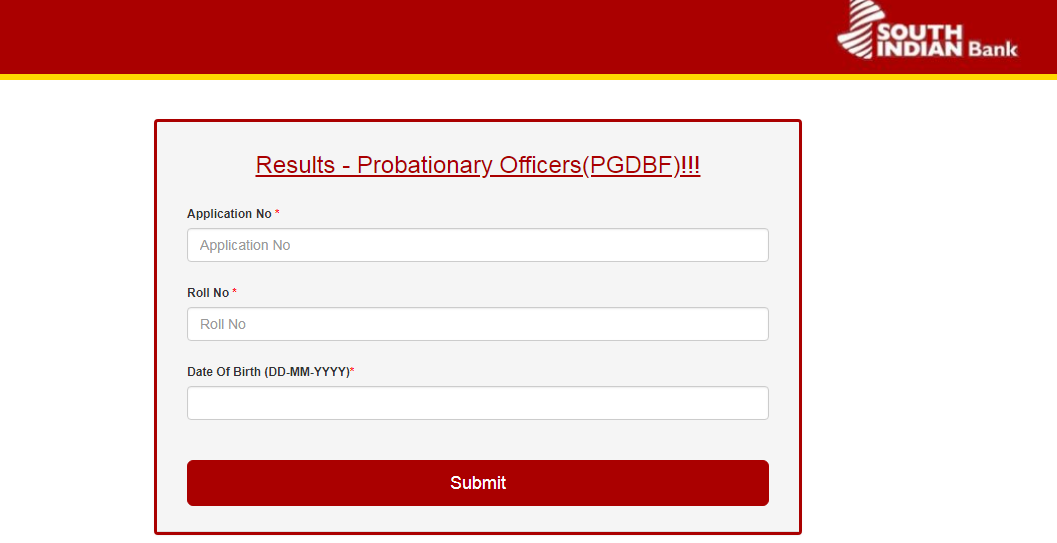 South Indian Bank PO - PGDBF Manipal Results Released