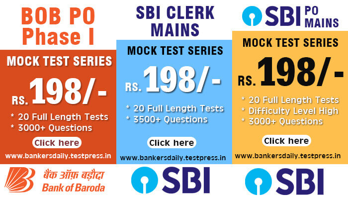 BOB PO 2018 - PGDBF MANIPAL - 20 MOCK TEST SERIES - Bankersdaily