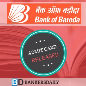 BOB PO 2018 - Online Test ADMIT CARD RELEASED - Bankersdaily