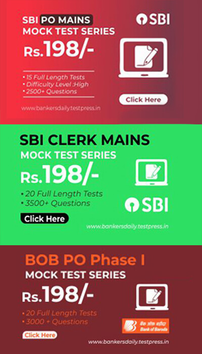 15 SBI PO MAINS EXAM 2018 -MOCK TEST SERIES - Bankersdaily