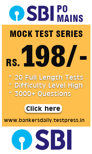 SBI PO - 2018 - 15 FULL LENGTH MOCK TEST SERIES - Bankersdaily