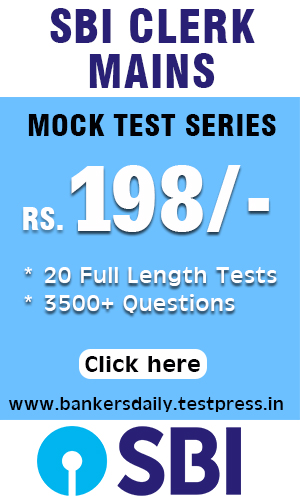 20 SBI CLERK PRELIMS MAINS - FULL LENGTH MOCK TEST SERIES