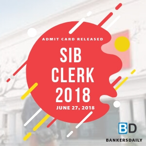 SBI CLERK MAINS EXAM - 2018 - ADMIT CARD RELEASED - Bankersdaily