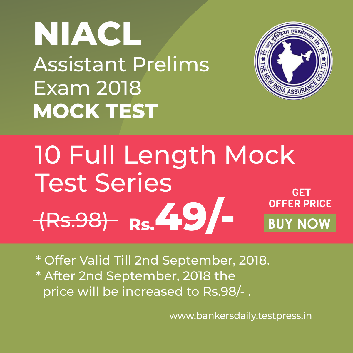 10 NIACL Assistant Exam 2018 - Bankersdaily