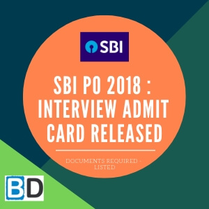 SBI-PO-2018 - Interview-Admit-Card-Released