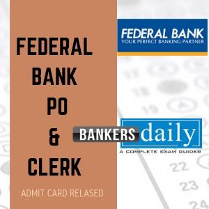 FEDERAL-BANK-PO-CLERK - Admit Card Released