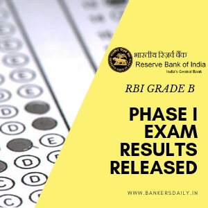 RBI-GRADE-B- Phase I Results Released