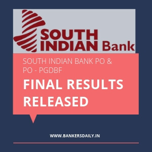 South Indian Bank PO - PGDBF - Manipal - Bankersdaily