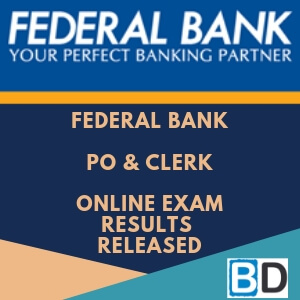 Federal-Bank-po-Clerk-online-exam-results-released