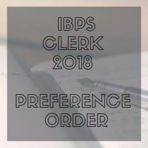 IBPS-CLERK-2018-PREFERENCE-ORDER- Tamil Nadu- Bankersdaily