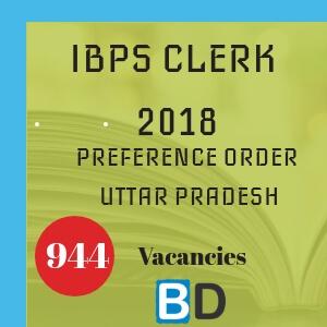 IBPS CLERK 2018 - Preference Order - Uttar Pradesh - Bankersdaily