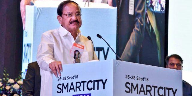 Vice President M Venkaiah Naidu Inaugurated Smart City Expo India