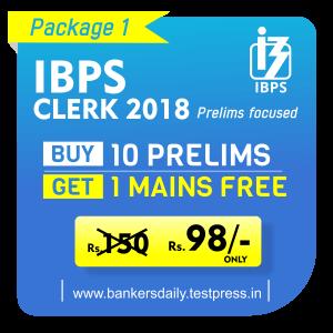 IBPS CLERK Prelims | Online Mock Test Series | 10 MOCK Test | Bankersdaily