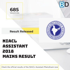 NIACL Assistant Mains 2018 Final Results Declared