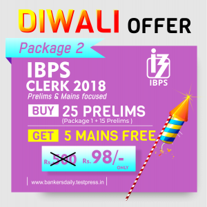 Bankersdaily - Diwali Offer - IBPS CLERK Prelims Exam 2018