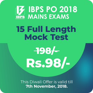 IBPS PO Mains Exam 2018 - Diwali Offer - Bankersdaily