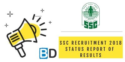 SSC Recruitment 2018: Status Report of Results