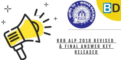 RRB ALP 2018 Revised & Final Answer Key released