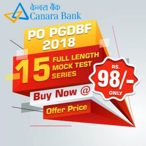 CANARA BANK PO PGDBF Exam 2018 - Bankersdaily - Online Mock Test Series