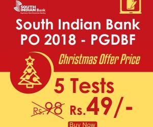 South Indian Bank PO Mock Test Series 2018 – 5 MUST Attempt Full Length Exams