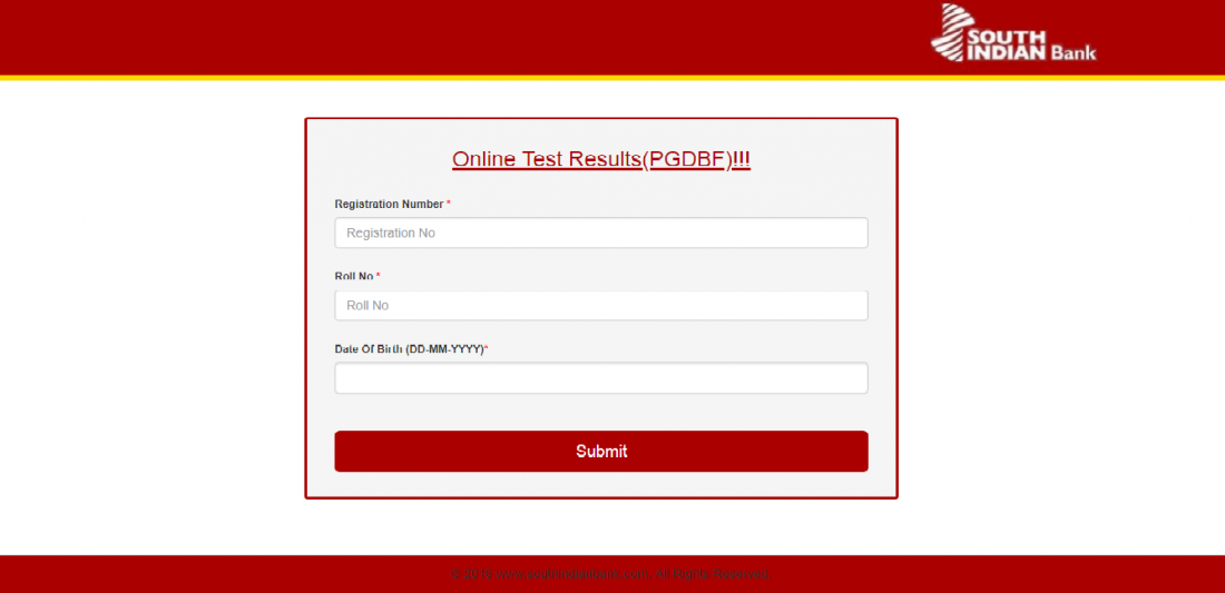 South Indian Bank PO - PGDBF - 2018 Online Test Results Released