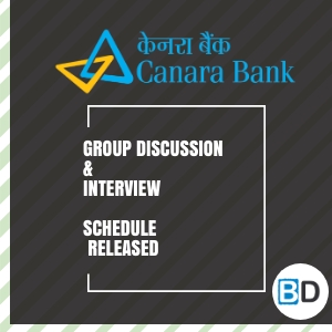 Canara Bank PO 2018 PGDBF - GD and Interview Schedule Released - Bankersdaily