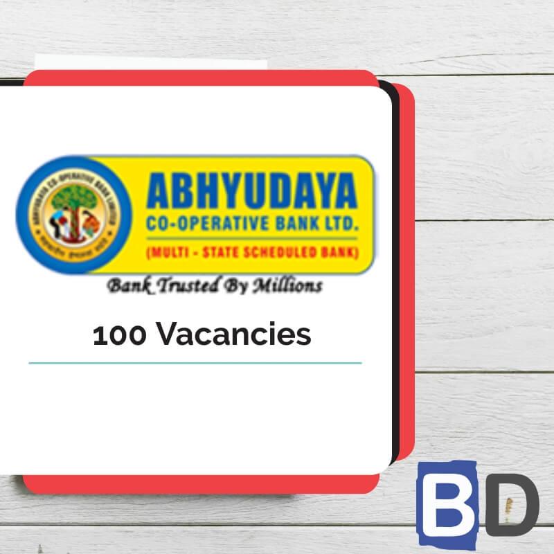 Abhyudaya Co-Operative Bank Clerk Recruitment 2019 – 100 VACANCIES - Bankersdaily