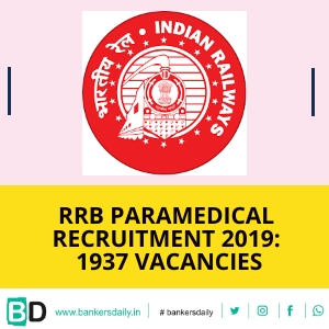RRB Paramedical Categories Recruitment 2019: 1937 Vacancies