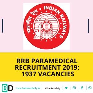 RRB Paramedical Categories Recruitment 2019: 1937 Vacancies