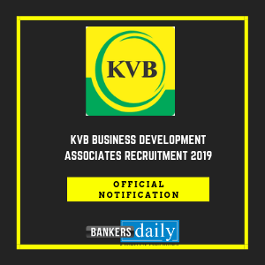 KVB Business Development Associates Recruitment 2019
