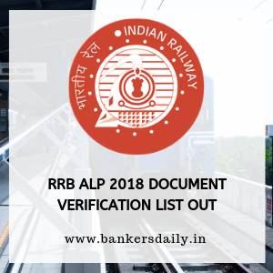 RRB ALP 2018 Document Verification List Out