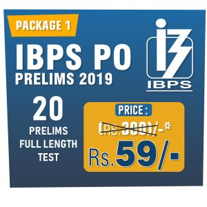 IBPS PO Prelims 2019 - Online Full Length Mock Test Series - Bankersdaily & Race Institute