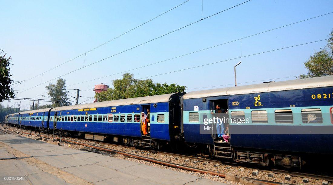 NEW DELHI, INDIA FEBRUARY 11: Howrah to Delhi train at New Delhi Railway Station on February 11, 2013 in New Delhi, India. (Photo by Ramesh Pathania/Mint via Getty Images)