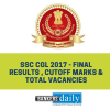 SSC CGL 2017 - Final Results , Cutoff Marks & Total Vacancies