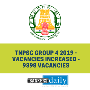 TNPSC Group 4 2019 - Vacancies Increased