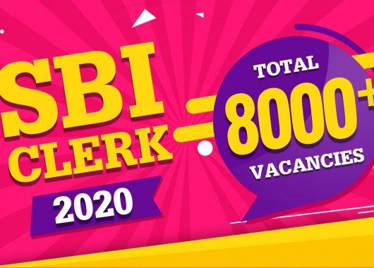 SBI CLERK 2020 Notification - Download PDF - 8000+ Vacancies