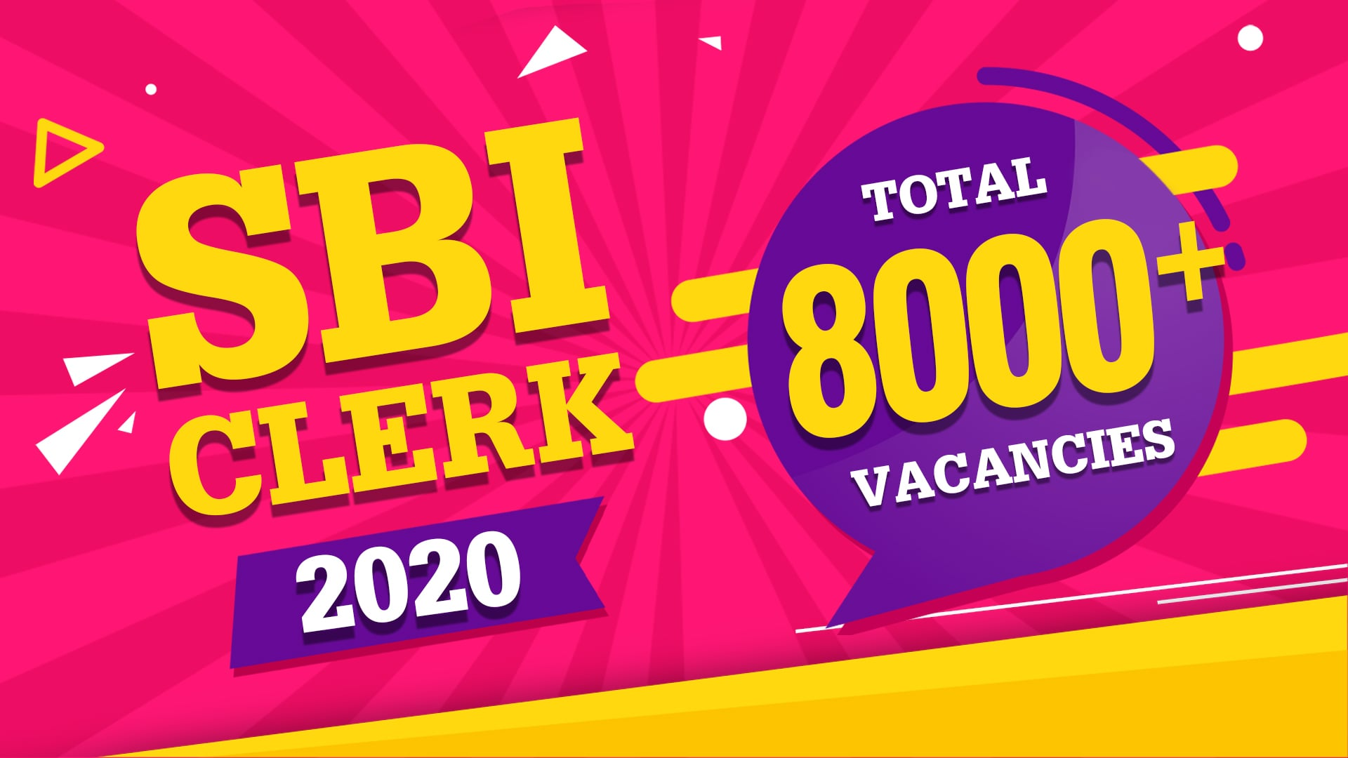SBI CLERK 2020 Notification - Download PDF - 8000+ Vacancies