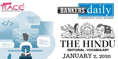 THE HINDU EDITORIAL: JANUARY 2, 2020