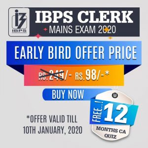 IBPS-CLERk-Mains-Exam-2019- online mock test series - Bankersdaily & <a href=
