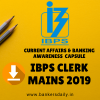 DOWNLOAD IBPS CLERK Mains 2019 PDF - Current Affairs & Banking Awareness Capsule