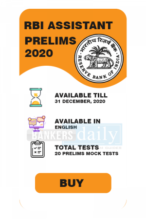 RBI Assistant Prelims 2020 - Online Mock Test Series - FREE Test Series - Bankersdaily & Race Institute