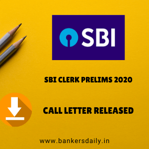 SBI Clerk 2020 Prelims Admit Card Released - Download Now
