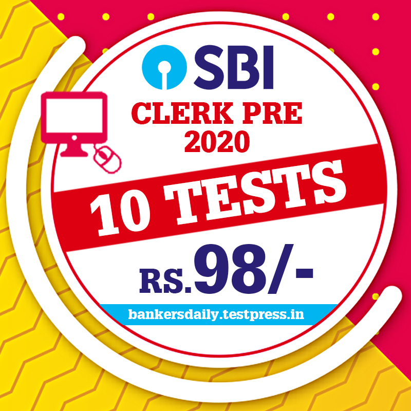 SBI CLERK Prelims 2020 - Online Mock Test Series
