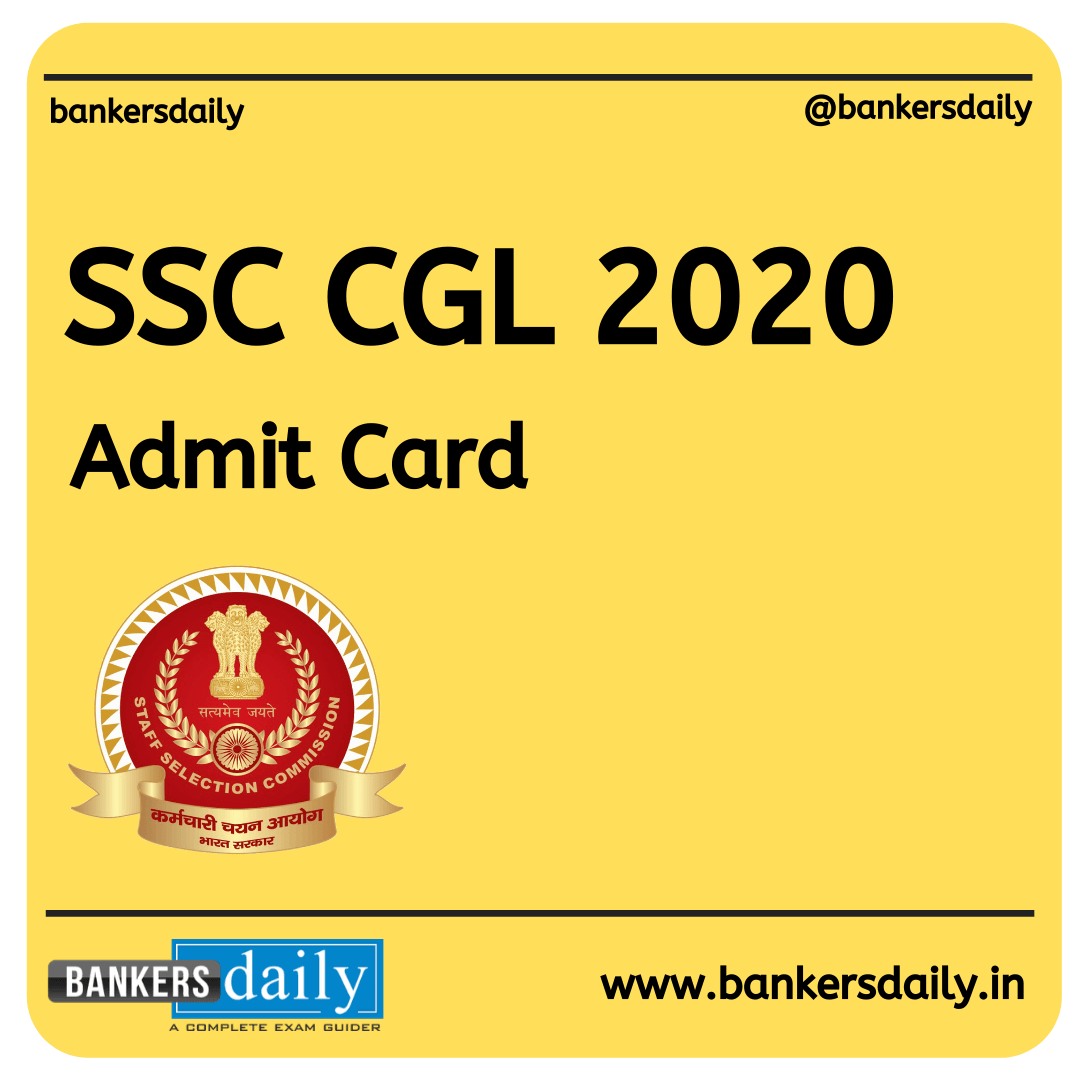 SSC CGL 2020 Admit Card Released: Download Now