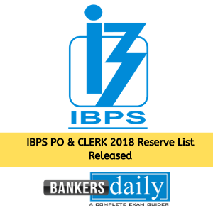 IBPS PO & CLERK CRP - VIII Reserve List Announced - Check Now