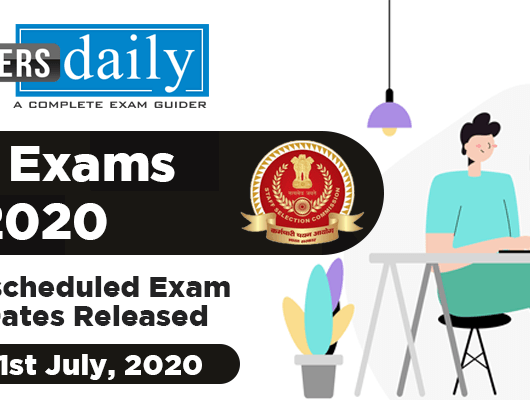 SSC CHSL, CGL , JE Exams 2020 - Revised Schedule Released [PDF]