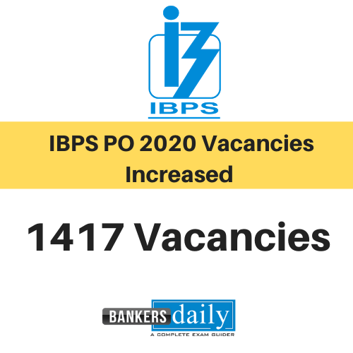 IBPS PO 2020 Vacancies increased from 1167 to 1417 Vacancies - Check now